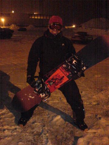 Это был мой первый сноуборт. Я его в Альпах сломал на вылете